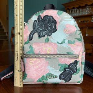 Coach Mini Charlie Camo Rose Floral